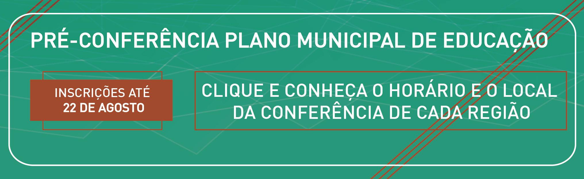 participe da pré-conferência do plano de educação